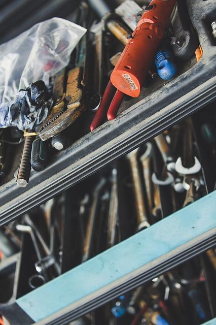 סידור כלים נוח ונכון במוסך